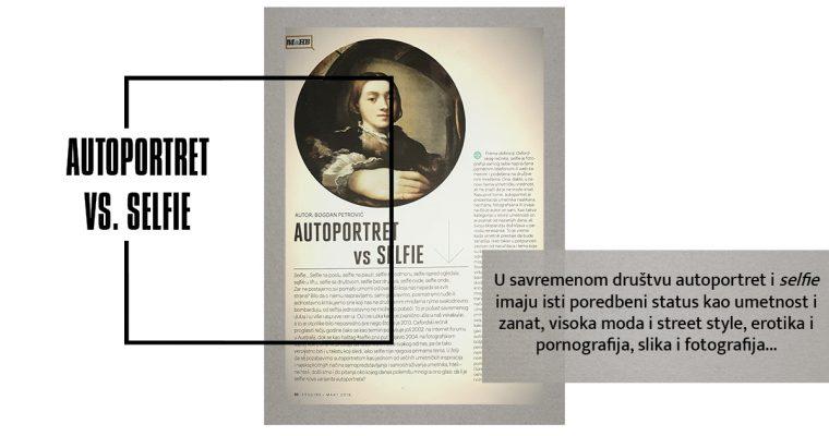 AUTOPORTRET VS. SELFIE (Esquire, mart 2016)