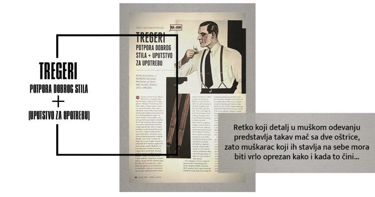TREGERI / POTPORA DOBROG STILA (Esquire, april 2016)