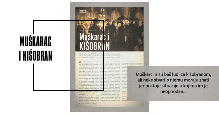 MUŠKARAC I KIŠOBRAN (Esquire, novembar 2016)
