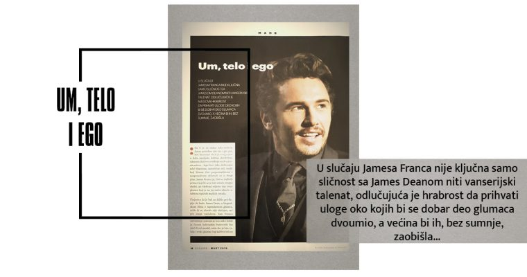 SEKS SIMBOLI: JAMES FRANCO (Esquire.Mart.2019)